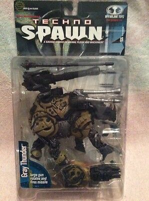 Spawn 15. Techno Spawn: GRAY THUNDER. McFarlane Toys spawn.com New! Rare!