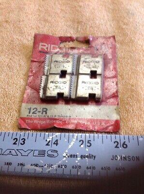 Ridgid Pipe Dies 12-r 1 14 Set