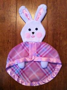 Pink Fisher Price Lovey Security Bunny Blanket Vintage Replica