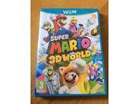 LIKE NEW Super Mario 3D World - Nintendo Wii U game - Perfect condition
