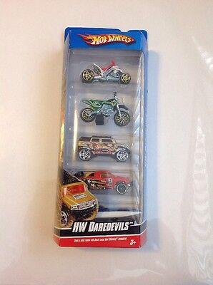 Hot Wheels HW Daredevils New In Box 5 Pack Cars Bikes Boat