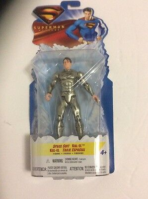 Superman Returns Space Suit Kal-El 5 inch Figure Mattel NIP TRU Exclusive - Superman Returns Suit