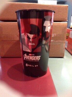 Avengers Infinity War 44oz Plastic Theater Cup Brand New