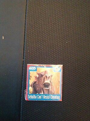 A1-1 Walkers Trade Card Star Wars Episode One 1 Scratch Card Sebulba
