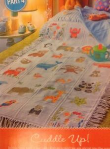 (C) Cuddle Up Baby Animal Afghan Sampler (all 4 parts) Cross Stitch Chart
