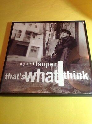 "That's What I Think 1993 CYNDI LAUPER 12"" Vinyl 7 Track Record Album FRAMED!"