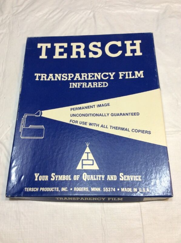 Thermal Infrared Overhead Transparency Film Approximately 30 Sheets 022610A