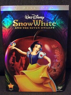 Snow White and the Seven Dwarfs Deluxe Edition Slipcase 2-Disc DVD Set Disney