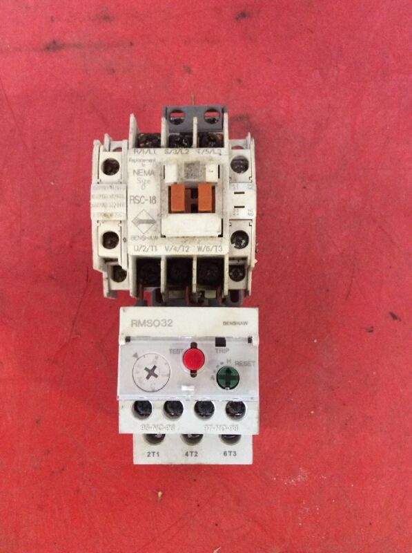 Benshaw NEMA Size 0 RSC-18 RMSO32 Overload 120 Volt Coil