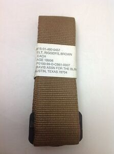 usmc rigger 039 s belt brown authentic issue mcmap new