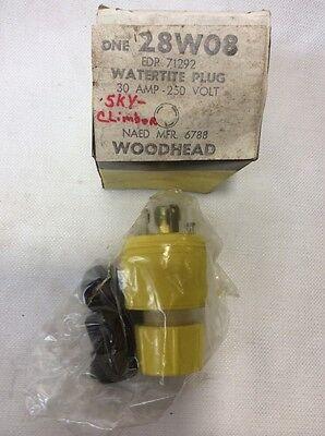 Daniel Woodhead Watertite Plug 28w08 30 Amp-250 Volt