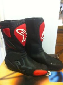 ALPINESTARS RACING BOOTS SIZE 9 OR 43 EUROPEAN BLACK/RED NEW Windsor Region Ontario image 4