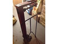 Old cast iron sack weighing scales