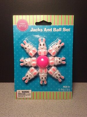 Easter Bunny Rabbit Jacks and Ball Set, Basket filler