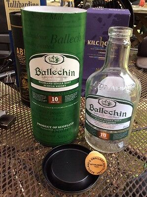 (Edradour BALLECHIN 10 Year Old Heavily Peated Single Malt Scotch Whisky Bottle)