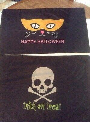 New DELIGHTFULLY FRIGHTFUL HALLOWEEN PILLOWCASE TRICK OR TREAT BAG SKULL or Cat - Pillowcase Halloween Treat Bags