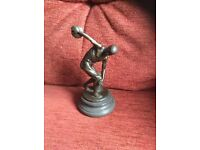 Modern Bronze Of Greek Olympian Discus Thrower