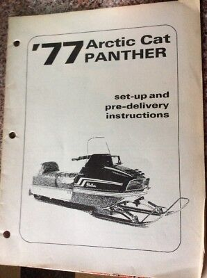 1977 Arctic Cat Panther Set Up And Pre Delivery Instructions