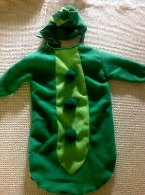 Baby Pea Pod Costume ~ Infant Size 6 Month ~ Halloween Picture Outfit ~CUTE!