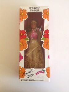 Vintage Hawaiian Maiden Lanakila Crafts Souvenir Doll Tiki Kitsch 11
