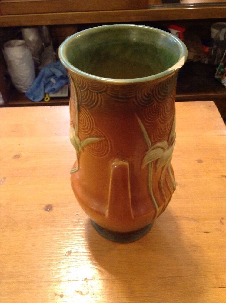 Roseville Zephyr Lily 138 10 Two Handled Vase 8500 Picclick