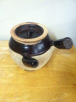 VTG Oriental Remedy Pot TOKONAME YOHEN KYUSU Tea Pot Same Side Handle Rare!