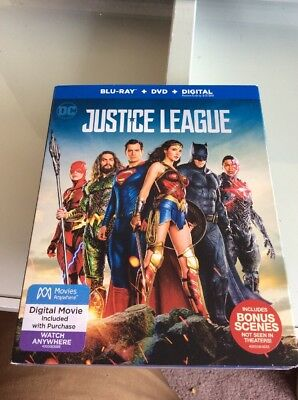 Justice League  Blu Ray Dvd  2018
