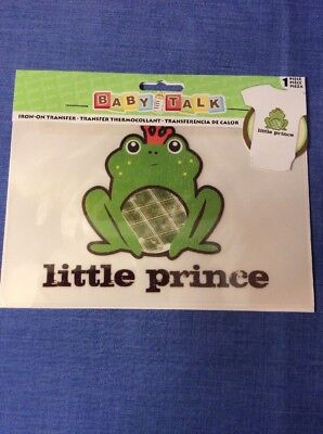 Little Prince Frog With Crown Birthday Boys Iron On Transfer For Shirt Or - Birthday Crowns For Boys
