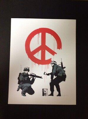 Banksy Fine Art Print NY Publisher 11x14great Graffiti Piece