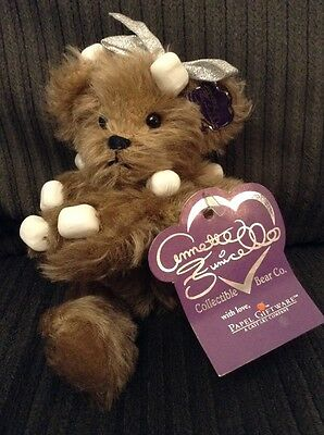 Annette Funicello Bear COCOA with marshmallows + tag -MOHAIR  7""