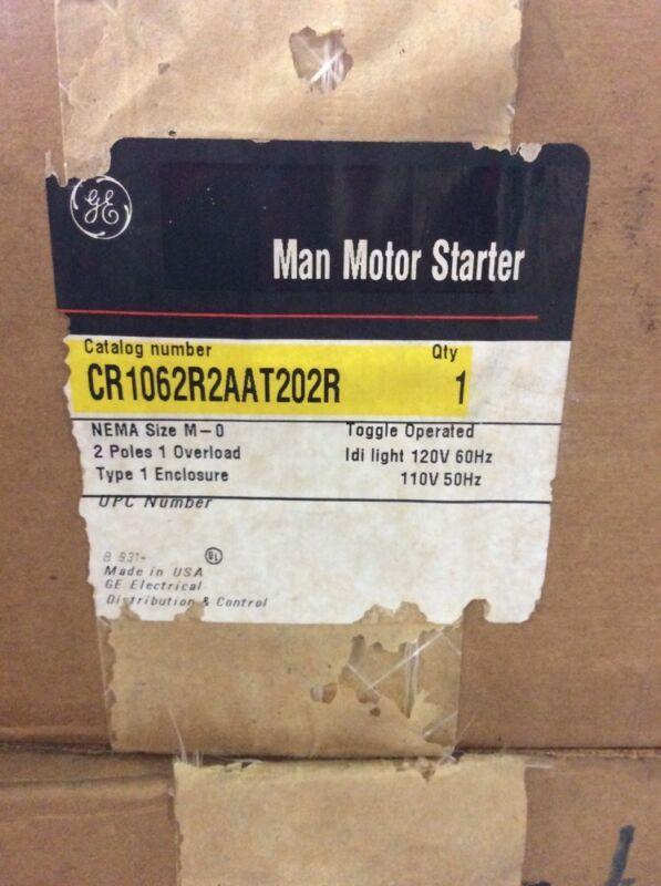 GE General Electric Man Motor Starter CR1062R2AAT202R Size 0 2 Pole 1 Overload