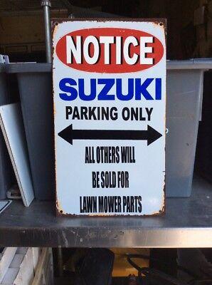 Suzuki Parking Only Metal Sign
