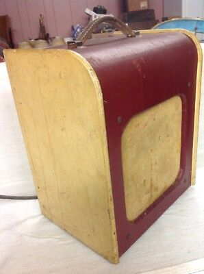 Vintage Harmony Red Burgundy H-191 Portable Guitar Amp