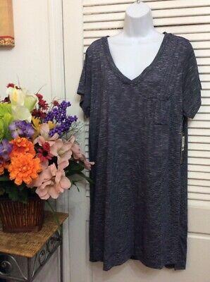 Nicole Miller 1X Black & White Pajama Top night shirt WAS 58.00 SALE CLEARANCE](Clearance Pajamas)