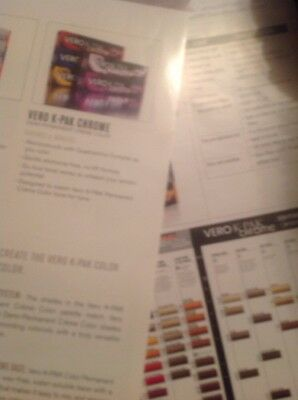 Vero Color System Chart Haircolor Paper swatch Sheet for sale  Minneapolis