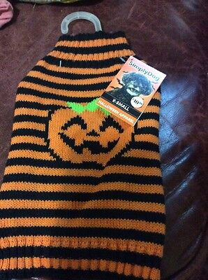 DOG SWEATER BY SIMPLY DOG NEVER USED XS REINDEER DESIGN