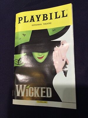 BRAND NEW WICKED BROADWAY MUSICAL PLAYBILL NEW YORK CITY CAST GERSHWIN THEATRE