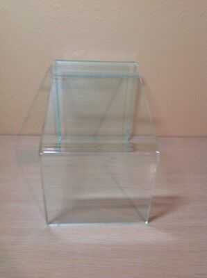 Clear Acrylic Angled Store Boot Or Shoe Display Riser 9-12 Tall