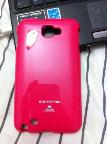 Samsung Galaxy Note mercury casing cover (hot Pink)