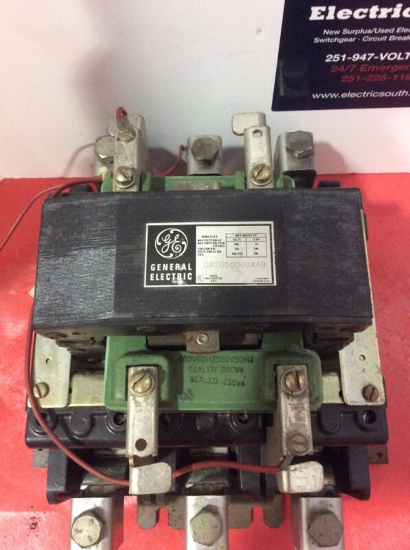 GE General Electric Contactor CR205GOOOAAB Size 5 460 Volt Coil