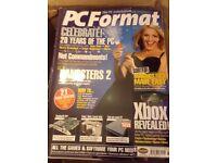 74 x PC Format Magazines - 1998 to 2004 + 3 x PC Plus + 2 x T3