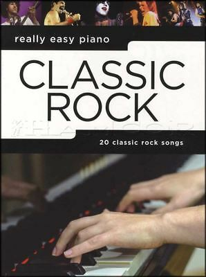 Really Easy Piano Classic Rock Sheet Music Book Queen Journey The Who Thin Lizzy ()