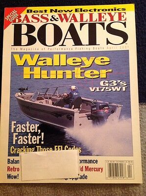 Bass & Walleye Boats BWB Magazine Issue 2001 April Walleye Hunter G3 V175WT