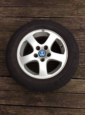 "SAAB 93 9-3 15"" ALLOY WHEEL WITH TYRE 195/65/R15 #2, used for sale  Sittingbourne"