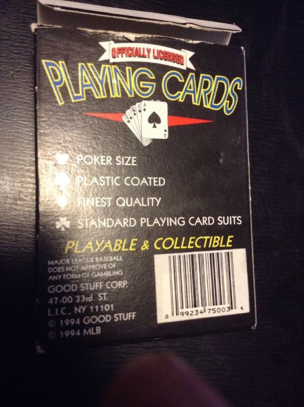 Vintage Baltimore Orioles Playing Cards