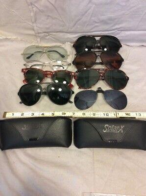 8 Pairs Vintage Aviator and Retro Type sunglasses