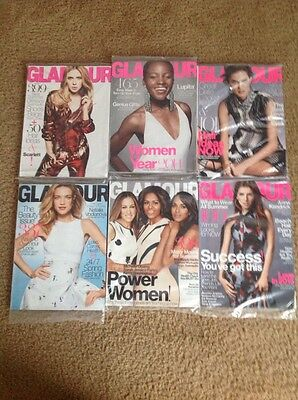 Glamour Magazine -  Lot of 6 Magazines from 2014-2015
