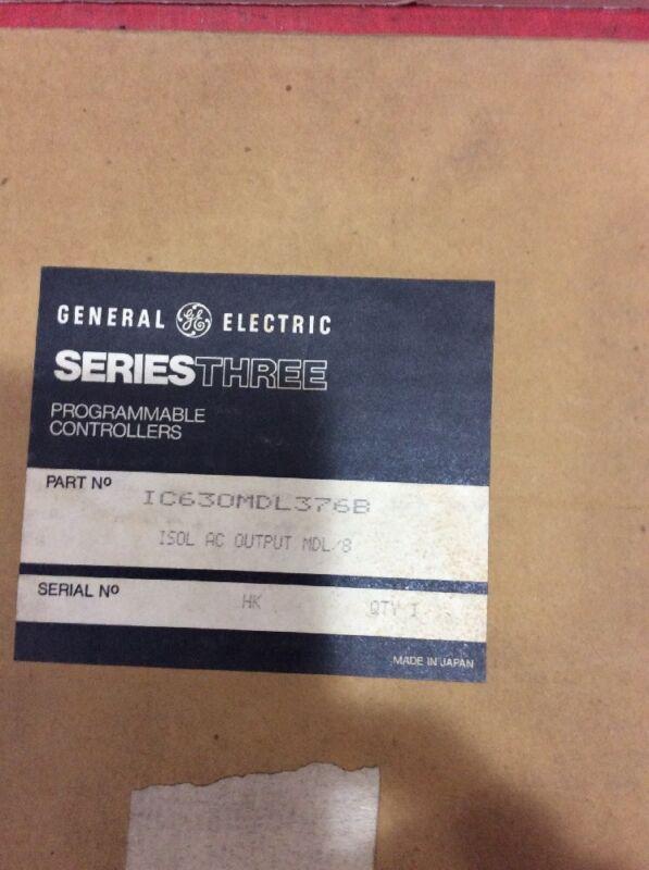 GE General Electric SeriesThree Programmable Controllers IC630MDL376B Ser HK