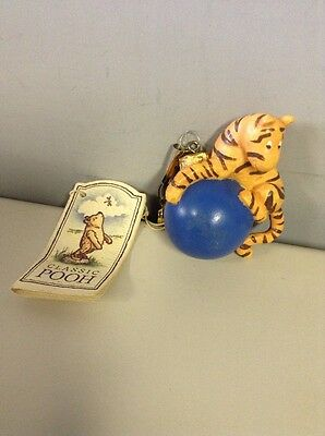Disney Classic Pooh Tigger on Blue Bouncing Ornament With Tag