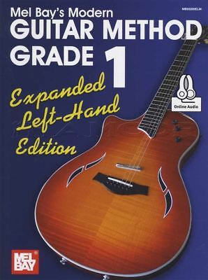 Left Handed Guitar Music - Guitar Method Grade 1 Expanded Left Handed Edition TAB Music Book with Audio